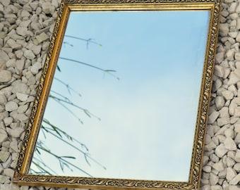 Mirror Art Deco Rectangular Mirror Hanging Mirror Vintage Home Decor Vintage Wall Mirror Bedroom Mirror