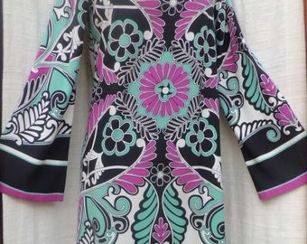 Vintage NICOLE MILLER Studio Mod Silk Dress