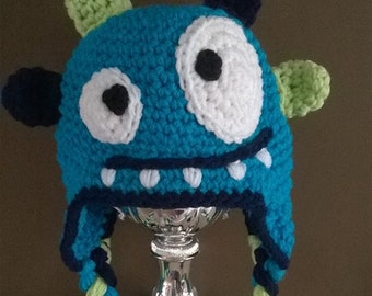 Crochet Monster hat, Monster, Made to order