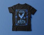 Team Mystic, Blue Team, Gym, Unisex, Shirt, Top, Pokemon, Badge, Evolution, Water, Ice Type, Tee Shirt, Articuno, Pokemon Go, Blanche