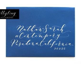 Modern Calligraphy Envelope Addressing: CONTEMPORARY