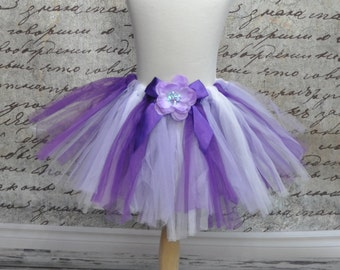 Baby Girls Sofia the First Ruffles Tutu Pettiskirt in Purple, Lavender and White. Ready to Ship.