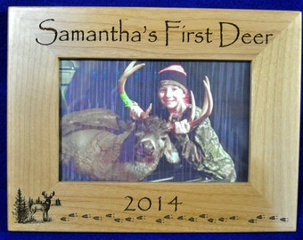 First Deer Frame ~ First Deer ~ Deer Hunting Frame ~ Custom Frames ~ 1st Deer ~ Child's First Deer Frame ~ Wood Engraved Frames ~ Deer ~ USA