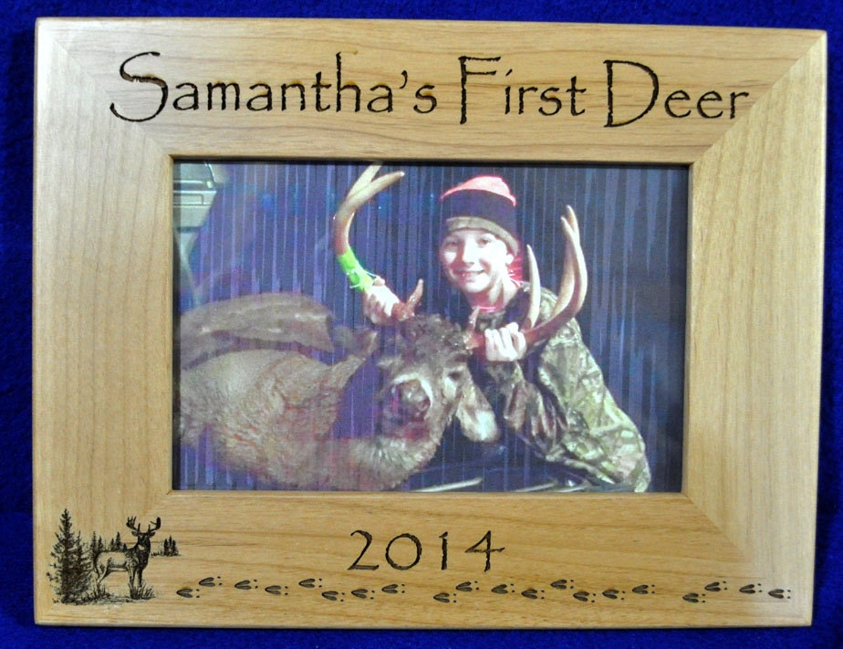 first deer frame first deer deer hunting frame custom frames 1st deer childs first deer frame wood engraved frames deer usa