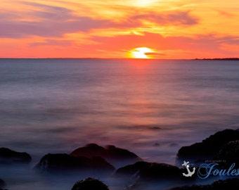 Sakonnet Sunset ~ Little Compton, Rhode Island, Lighthouse, New England, Ocean, Coastal, Seascape, Art, Photograph, Wall Art, Home Decor