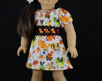 American Girl doll clothes -3 piece summer dress outfit (423multi)