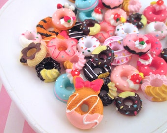 Assorted Donut Cabochons, Pick Your Amount