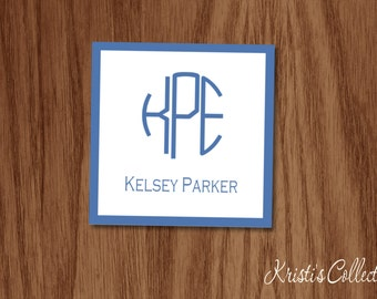 Personalized  Monogrammed Calling Card, Classic Gift Tags, Personal Business Cards Gift Inserts Enclosure Cards, Simple Preppy Gifts