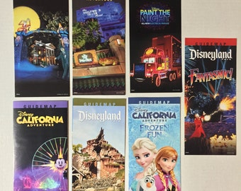 2015 Disneyland California Adventure park map lot of 7 maps
