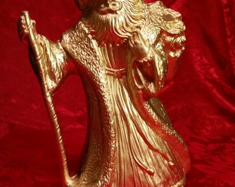 Gold Father Christmas Figurine