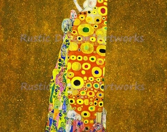 "Gustav Klimt ""Hope II"" 1907 Reproduction Digital Print Art Nouveau Birth Life Wall Hanging"
