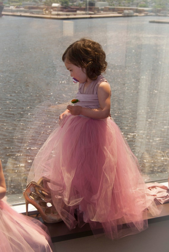 Flower Girl Convertible Dress with Tulle Tutu