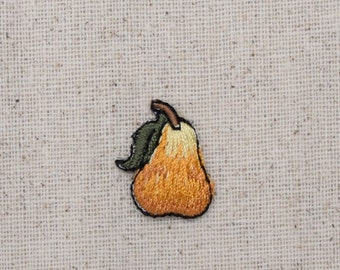 Golden Yellow Pear - Small - Fruit - Embroidered Patch - Iron on Applique