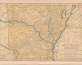 1893 Arkansas Antique Map