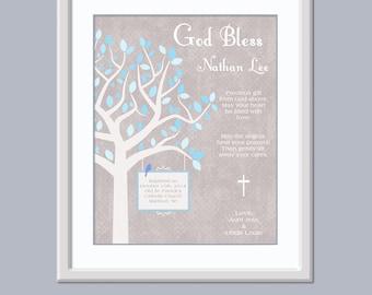 Christening Keepsake - Christening Sign - Boys Baptism Gift - Baptism Gift For Boys - Baptism Keepsake