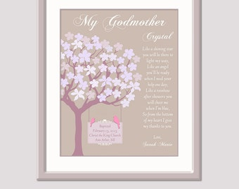 Godmother Gift - Thank You Gift For Godmother - Personalized Gift For Godmother - Gifts For Godmother From Godchild - Baptism Thank You Gift