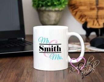 Personalized Coffee Mug, Wedding Couple Mug, Couples Coffee Mug, Custom Coffee Mug, Wedding Shower Gift, Coffee Mug, Personalized Coffee Mug