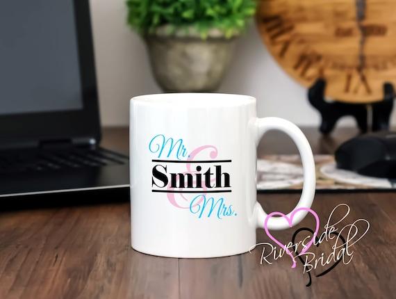 Engraved Wedding Coffee Mugs : ... Coffee Mug, Wedding Shower Gift, Coffee Mug, Personalized Coffee Mug