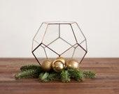Geometric Glass Terrarium / Wedding Table Centerpiece / Handmade Terrarium / Modern Planter for Indoor Gardening / Stained Glass Terrarium