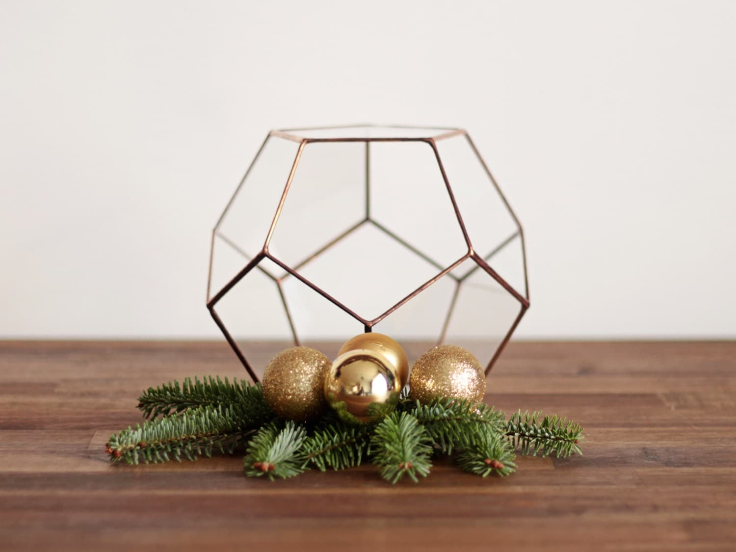 Geometric glass terrarium container mom christmas gift