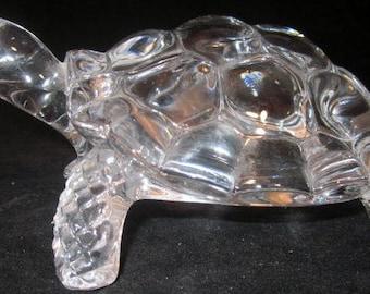 Vintage Turtle Cristal D' Arques 24 Lead Crystal Turtle