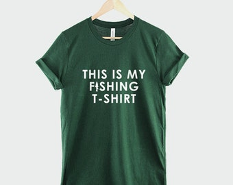 Fishing Shirt - This Is My Fishing T-Shirt Guys Fisherman