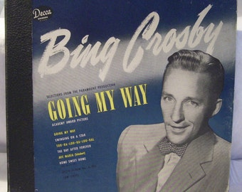 Vintage Bing Crosby Going My Way Record Album Collection