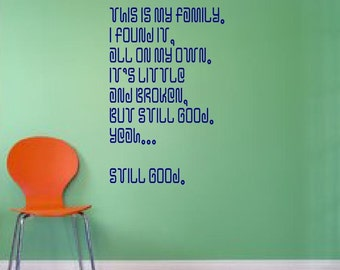 This is my family... Lilo and Stitch - wall decal, disney