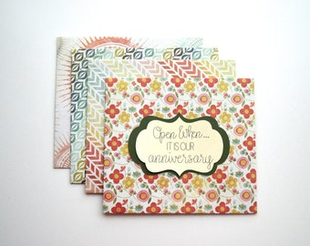 """Multicolored Handmade Personalized """"Open When"""" Envelopes/Letters, Choose Quantity"""