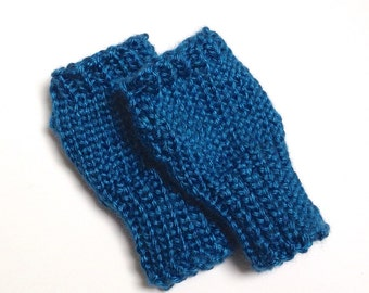 Fingerless Winter Mittens - Winter Knit Gloves - Fingerless Mittens Knit Gift - Winter Gloves Gift - Wrist Warmers