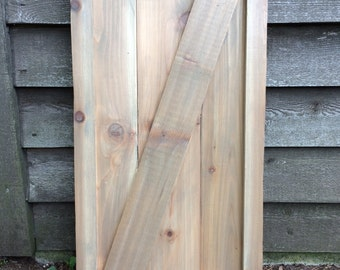 AVAILABLE: Framed Barn Door Style Cedar Shutters / Exterior Shutters /  Farmhouse / Rustic /