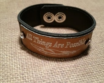 CUFF with custom message-engraved-choose color
