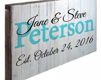 Custom names, Last name &  Date To Remember Wall Art Sign #973133