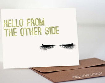 Birthday / Miss You Card | Hello from the Other Side