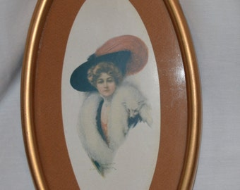 Oval Vintage Art Print