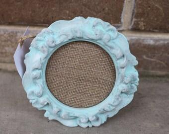 Blue Vintage Distressed Picture Frame
