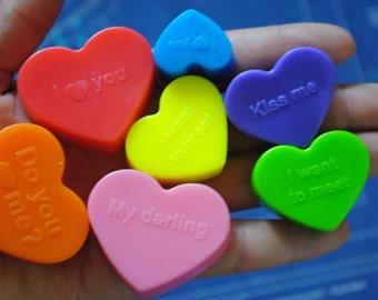 10 Different shaped heart – Novelty, gag soap, christmas Gift, wedding favor