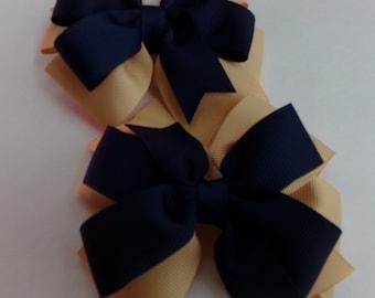 School Hair Bow Double Layered Hair Bow Go Back to School Pinwheel Hair Bow Set.