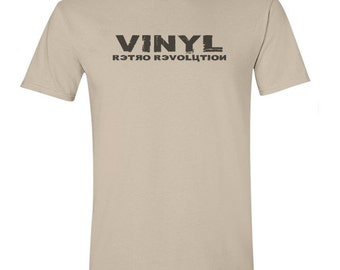 Graphic tee - gift for men, vinyl retro revolution, vintage record player, music tshirts, vinyl record, tee shirts, uk sellers only