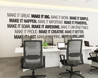 Office wall art Etsy