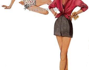 1953 Shorts, Bra and Shirt EvaDress Pattern