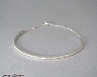 White gold Diamond cuff bracelet -pave diamond cuff bracelet-infinity cuff bracelet-14k gold diamond bracelet-pave diamond bracelet bracelet