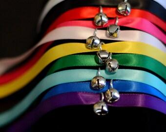 Satin Ribbon BDSM Pet Collar with Bell
