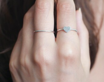 40% OFF Fingerprint Jewelry • Dainty Fingerprint Heart Charm Ring • Tiny Fingerprint Ring • Custom Fingerprint Jewelry • Mothers Gift • RM30