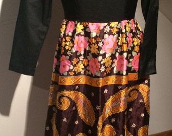 70s Paisley Maxi Dress