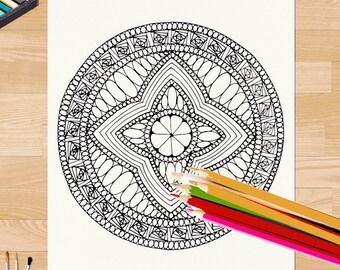 Mandala Coloring Page #0017