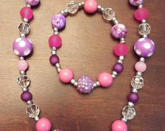 Purple Sweet Heart necklace