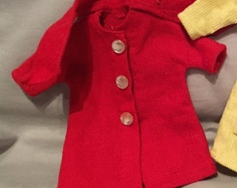 1960s Vintage Handmade Barbie/Skipper Coat