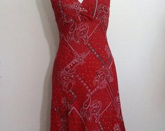 Red bandana dress – Etsy
