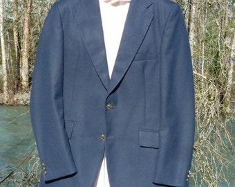 40 T LONDON FOG BENTLEY  by Freed & Freed Ltd. dark navy blue 40 tall sport jacket London Fog 40 tall blue 2 button blazer